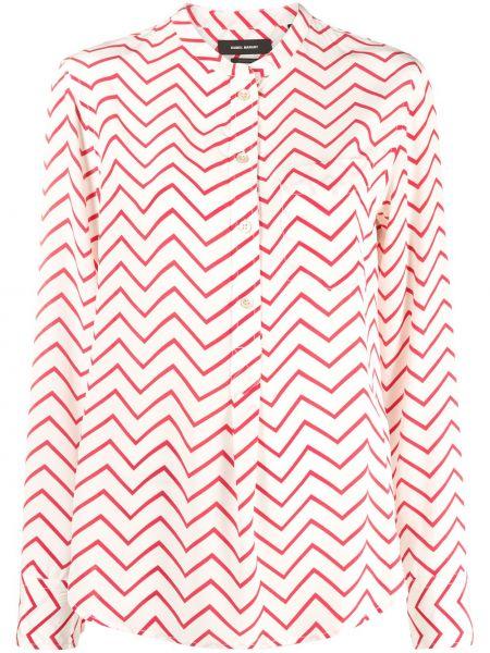 Шелковая с рукавами блузка на пуговицах Isabel Marant