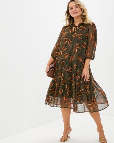 Повседневное повседневное платье хаки Intikoma