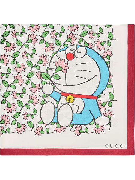 Biały jedwab szalik plac Gucci
