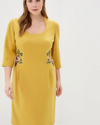 Платье осеннее желтый Galina Vasilyeva