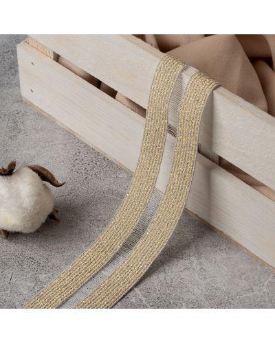 Резинка для волос на резинке золотая со вставками арт узор