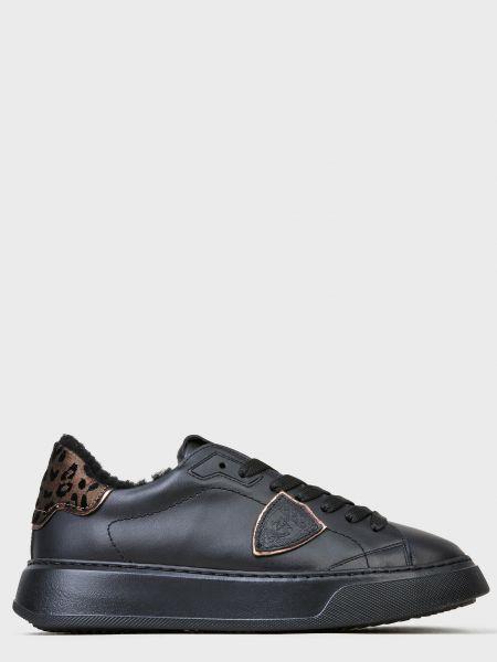 Кожаные кеды - черные Philippe Model