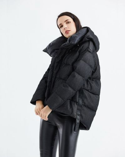 Пуховик оверсайз - черный Snowimage