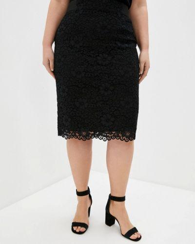 Прямая черная юбка карандаш Franco Vello