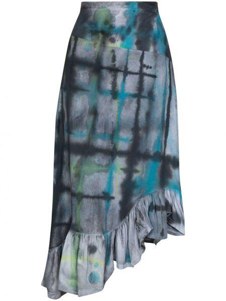 Bawełna bawełna niebieski asymetryczny spódnica Collina Strada