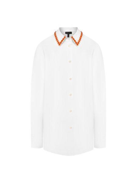 Хлопковая рубашка - белая Escada