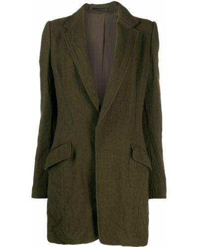 Однобортное приталенное шерстяное длинное пальто Y's