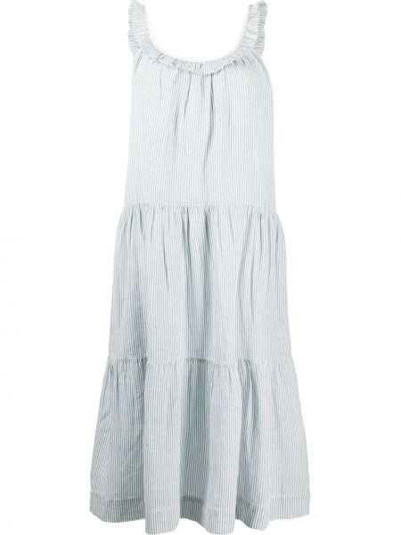 Синее платье миди без рукавов в полоску The Great.