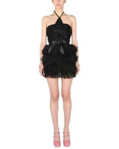 Czarna sukienka mini Teen Idol