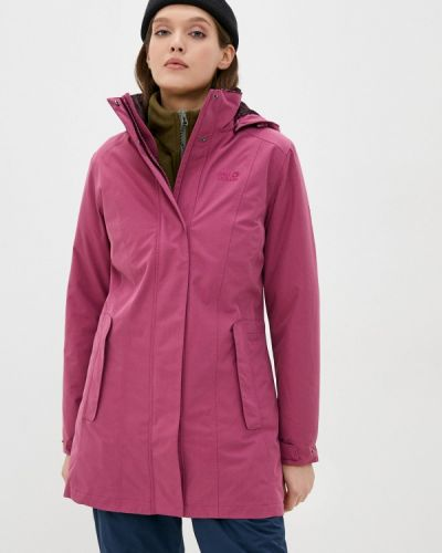 Теплая розовая утепленная куртка Jack Wolfskin