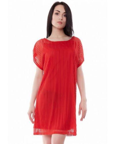 Красное повседневное платье Vergans