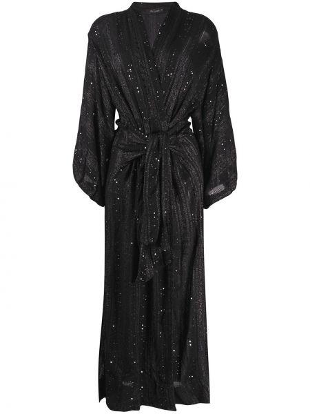 Длинное пальто с запахом с вышивкой Mes Demoiselles