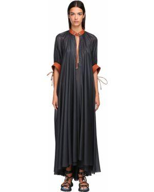 Платье макси с V-образным вырезом с отложным воротником Sportmax