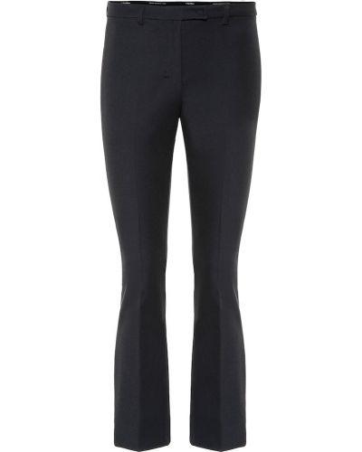 Bawełna bawełna niebieski klasyczne spodnie S Max Mara