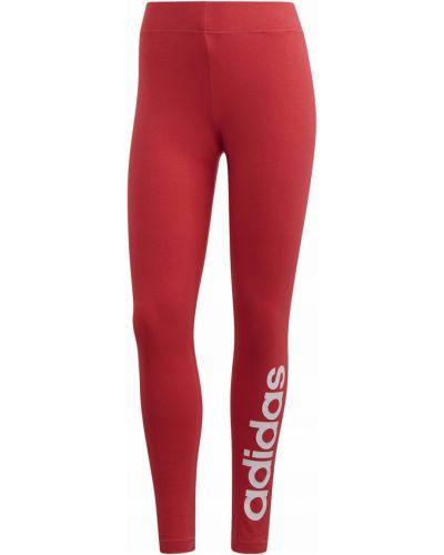 Klasyczne czerwone legginsy bawełniane Adidas