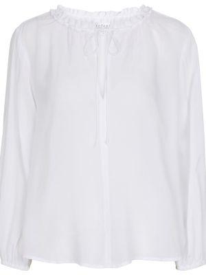 Белая бархатная блузка Velvet
