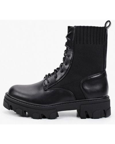 Черные текстильные ботинки Sweet Shoes