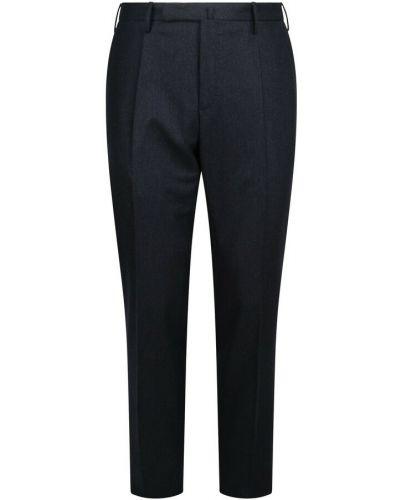 Niebieskie spodnie wełniane Incotex