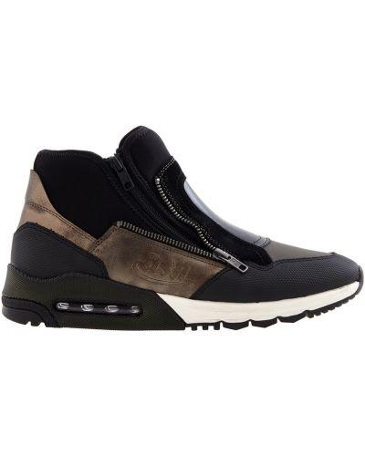 Кожаные кроссовки на молнии велюровые Ash