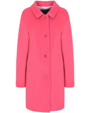 Шерстяное пальто - розовое Paul&shark