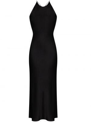 Черное платье миди с открытой спиной на бретелях без рукавов Rosetta Getty