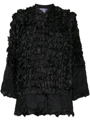 Черная куртка с воротником на кнопках Comme Des Garçons Comme Des Garçons