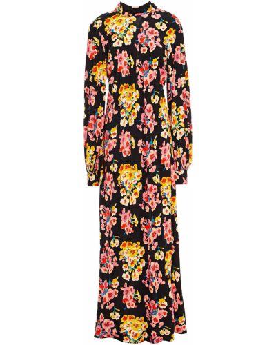 Платье макси на пуговицах - черное Paul & Joe