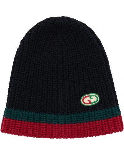 Czarny wełniany kapelusz Gucci