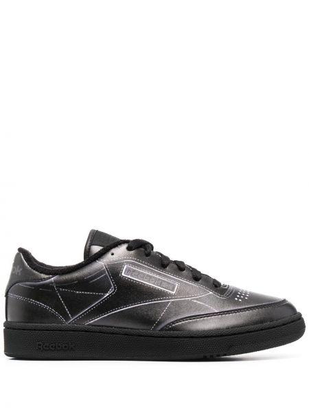 Кружевные черные кроссовки на шнурках Maison Margiela X Reebok