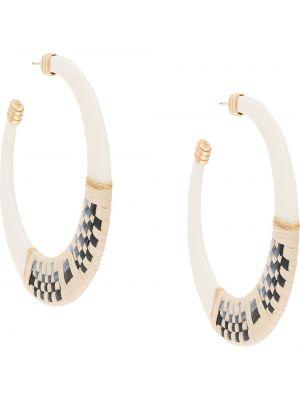Плетеные серьги-кольца с бабочкой Gas Bijoux