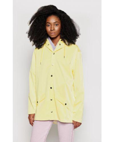 Żółta kurtka na co dzień Rains