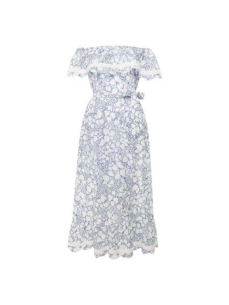 Платье с поясом с декольте с цветочным принтом Marysia