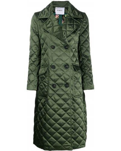 Приталенное длинное пальто с воротником с лацканами Ainea