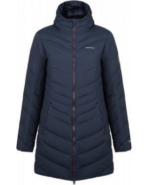 Теплая синяя нейлоновая куртка с капюшоном на молнии Merrell