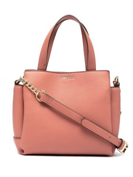 Złota torebka na łańcuszku - różowa Carvela
