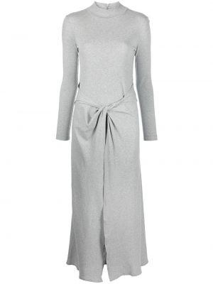 Платье макси длинное - серое Rosetta Getty