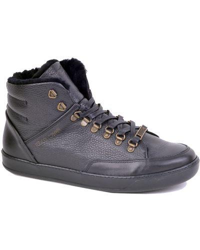 Черные кроссовки с мехом Roberto Cavalli