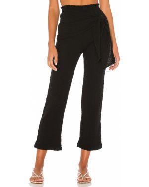 Czarne spodnie bawełniane na plażę Ellejay