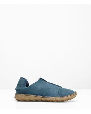 Мокасины синие кожаные Bonprix