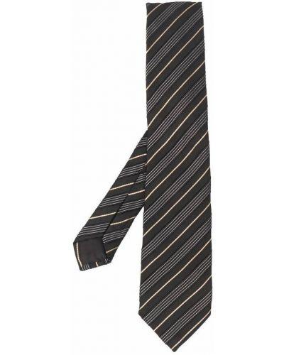 Czarny krawat Hugo Boss