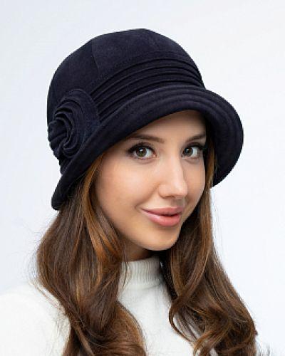 Замшевые шляпа - синие каляев