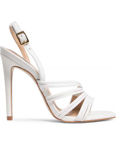 Босоножки на каблуке - белые Eva Longoria