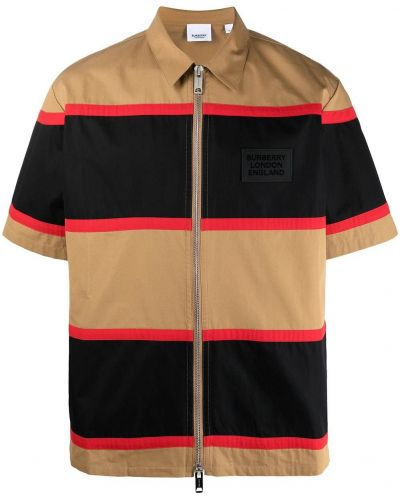 Bawełna czarny klasyczna koszula krótkie rękawy Burberry