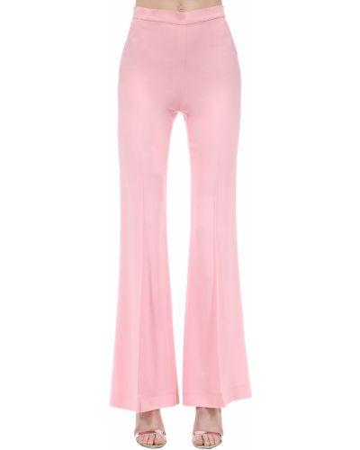 Różowe spodnie z wysokim stanem z wiskozy Marianna Senchina