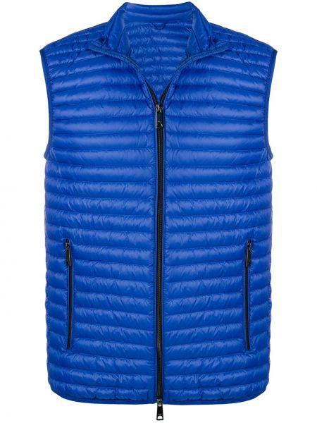 Синяя спортивная жилетка на молнии Emporio Armani
