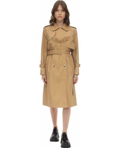 Płaszcz z paskiem bawełniany klamry Simone Rocha