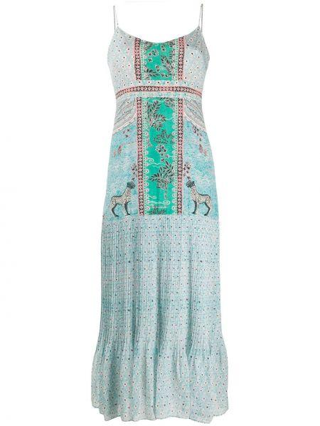 Платье миди на бретелях с цветочным принтом Saloni