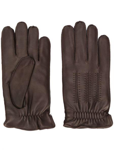 Skórzany rękawiczki z mankietami elastyczny Orciani