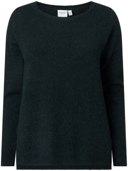 Prążkowany zielony sweter wełniany Junarose