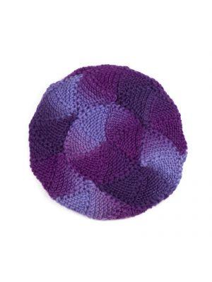 Fioletowy beret wełniany Art Of Polo
